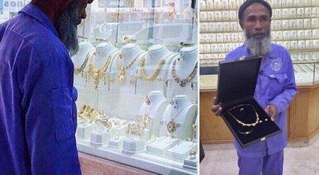 Осмеянного в соцсети уборщика из Саудовской Аравии осыпали золотом и подарками