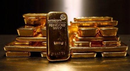 Цены на золото за месяц рухнули до февральского минимума