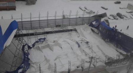 Хоккейный корт за 15 миллионов обрушился в Петропавловске