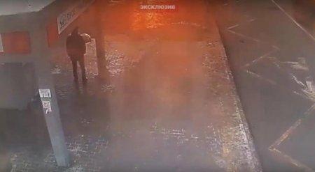 Появилось видео взрыва у станции метро в Москве
